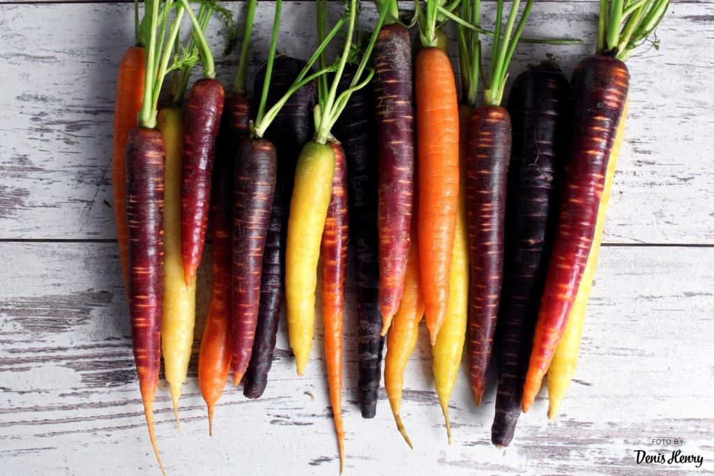 Fialová a barevná mrkev